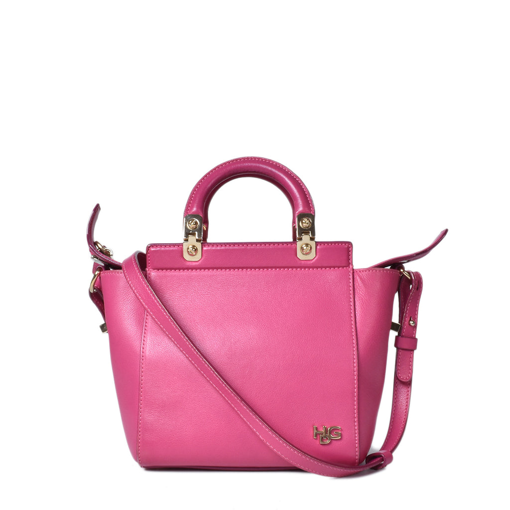 Givenchy HDG Micro Leather Tote in Fuchsia