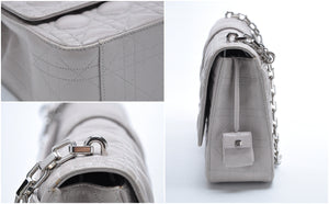 Large Miss Dior in Grey with Silver Hardware
