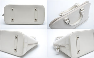 Epi Leather Alma in Ivory (White) with Silver Toned Hardware