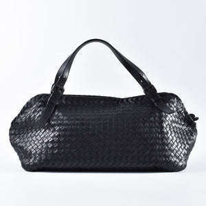 Bottega Veneta Large Duffle Bag in Black *PIG SKIN* - Glampot
