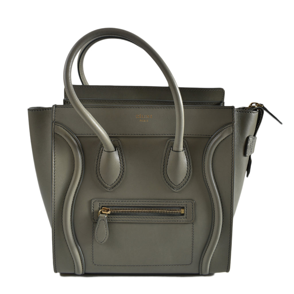 Celine Micro in Grey Smooth Leather