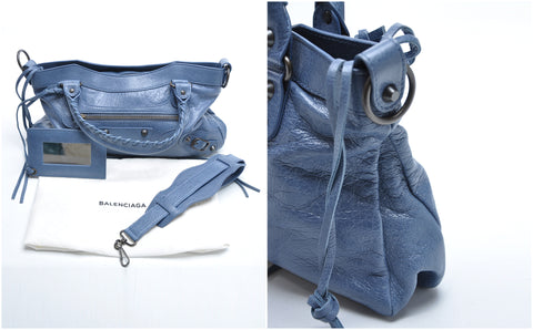 Balenciaga Classic First in Navy - Glampot