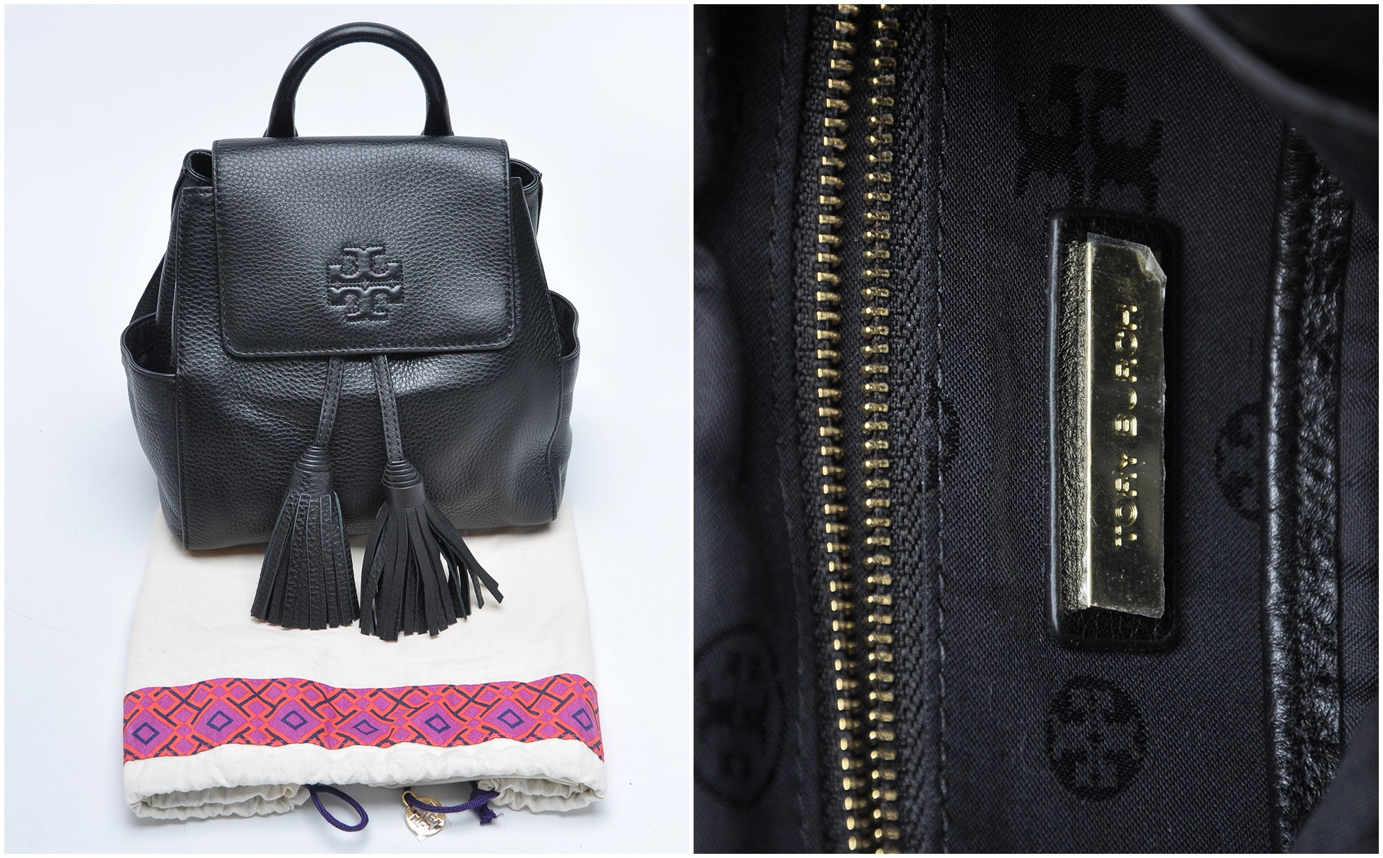 Tory Burch Thea Backpack in Black