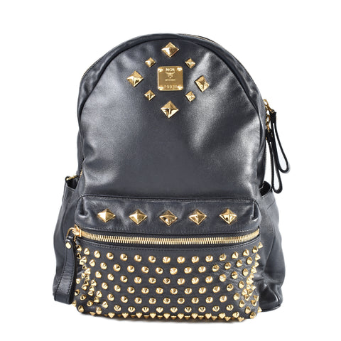 MCM Limited Edition Black Nappa Leather Backpack