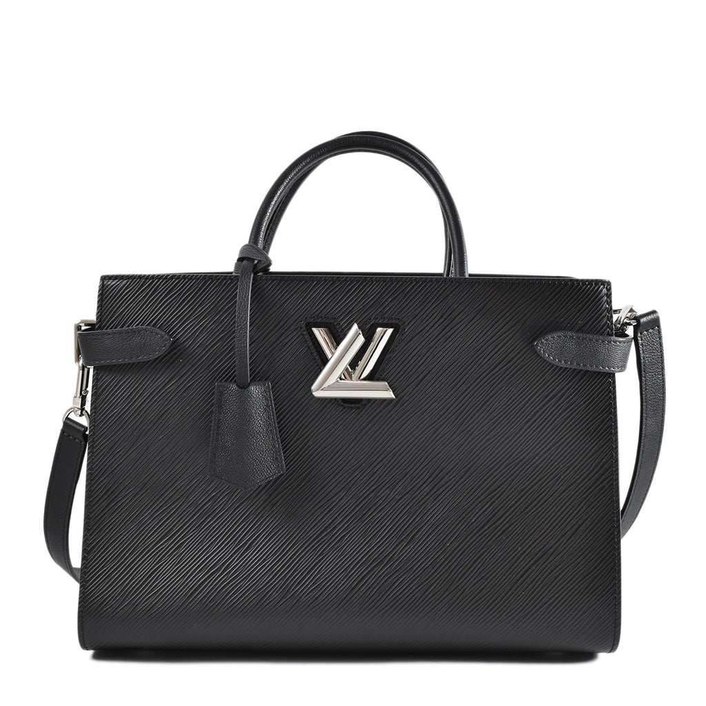 Louis Vuitton Black Epi Leather Twist Tote Bag