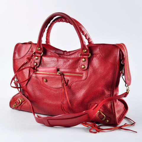 Balenciaga Classic City in Red GHW. 115748.6460 J.1669 - Glampot