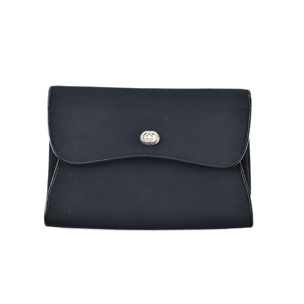 Gucci Vintage Canvas Clutch in Black