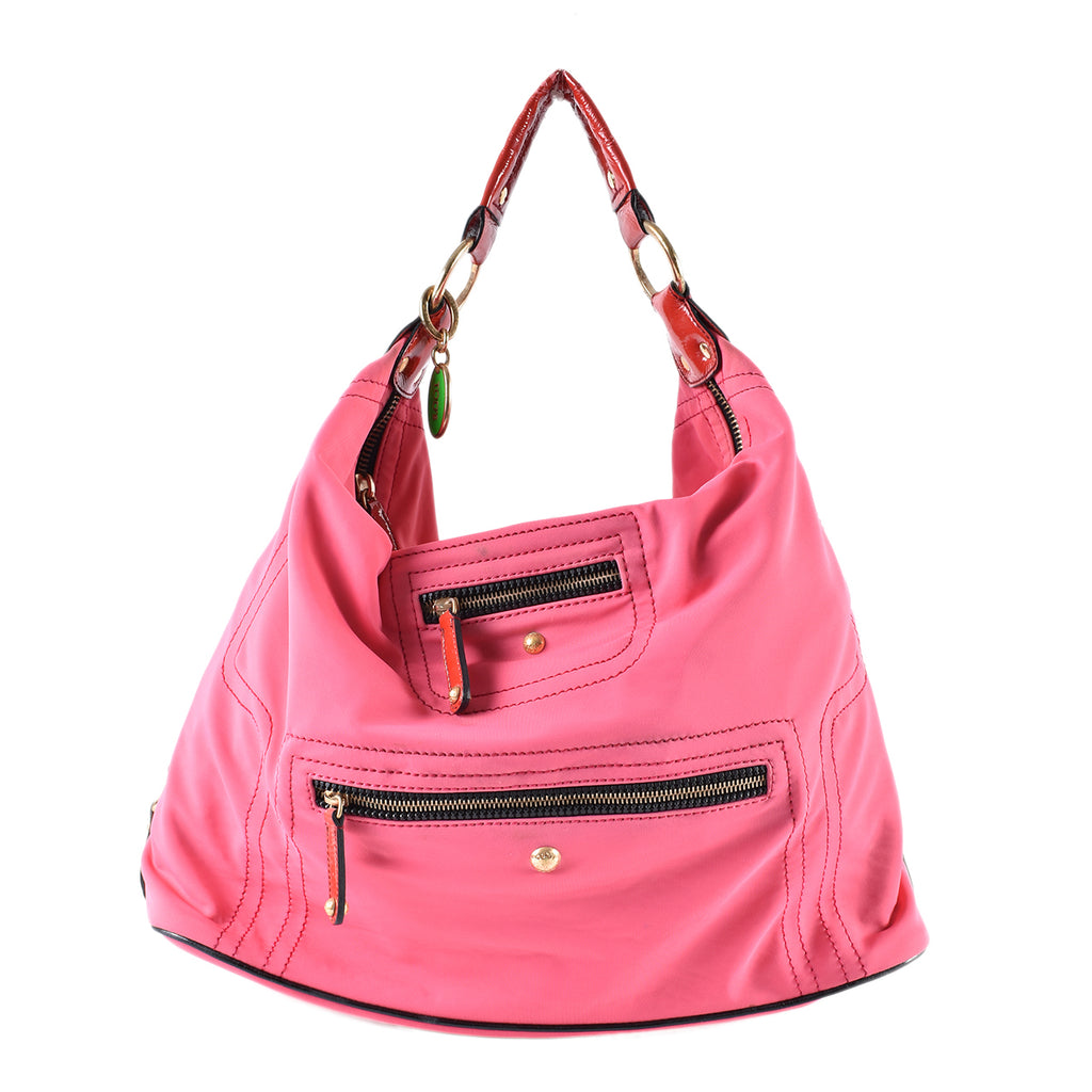 Tod's Neoprene Pashmy Large Hobo Bag in Neon Pink