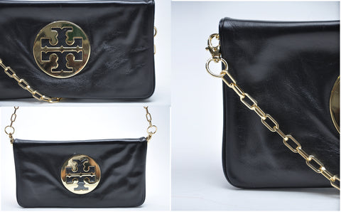 Tory Burch Reva Clutch in Black