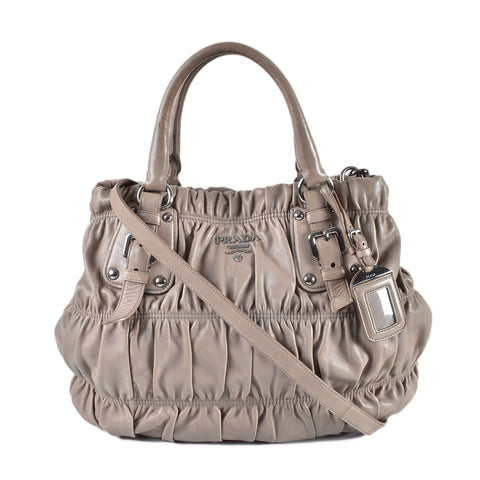 Prada BN1789 Juta Nappa Gaufre 2 Way Bag