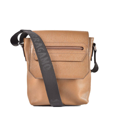Salvatore Ferragamo Men's Camel Calf Crossbody