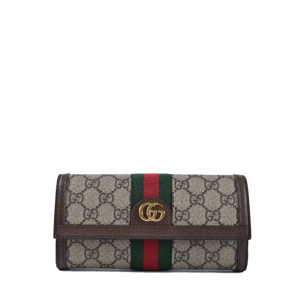 Gucci Ophidia GG Continental Pig Skin Wallet