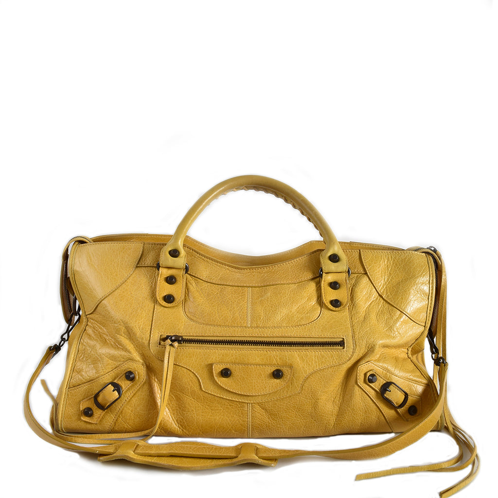 Balenciaga 168028 Yellow Part Time Bag