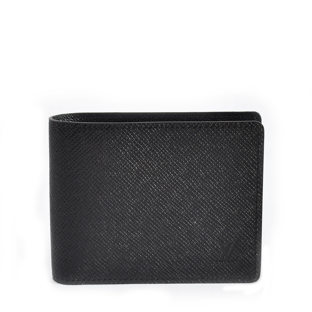 Louis Vuitton Multiple Wallet in Black Taiga CT0148