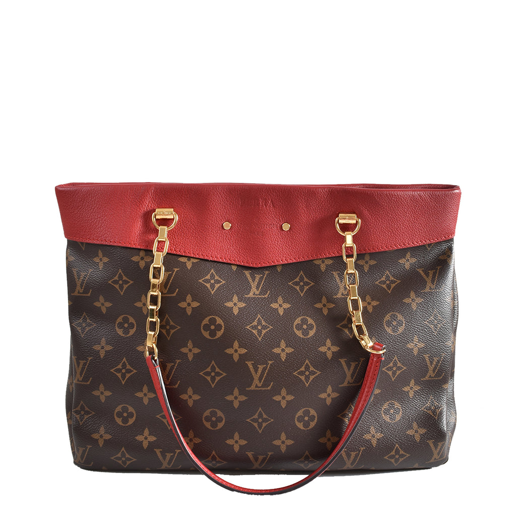 Louis Vuitton M51197 Monogram Cerise Pallas Shopper Tote SP4115