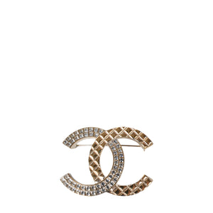 Chanel Cruise 2017 Golden Crystal Brooch B17