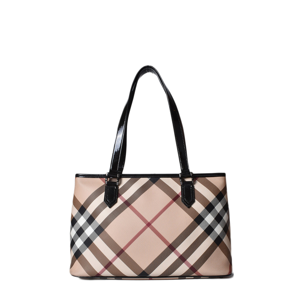 Burberry Supernova Check Coated Canvas Regent Tote Bag