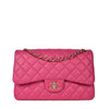 Chanel Dark Pink Quilted Lambskin Leather Classic Jumbo Double Flap Bag GHW