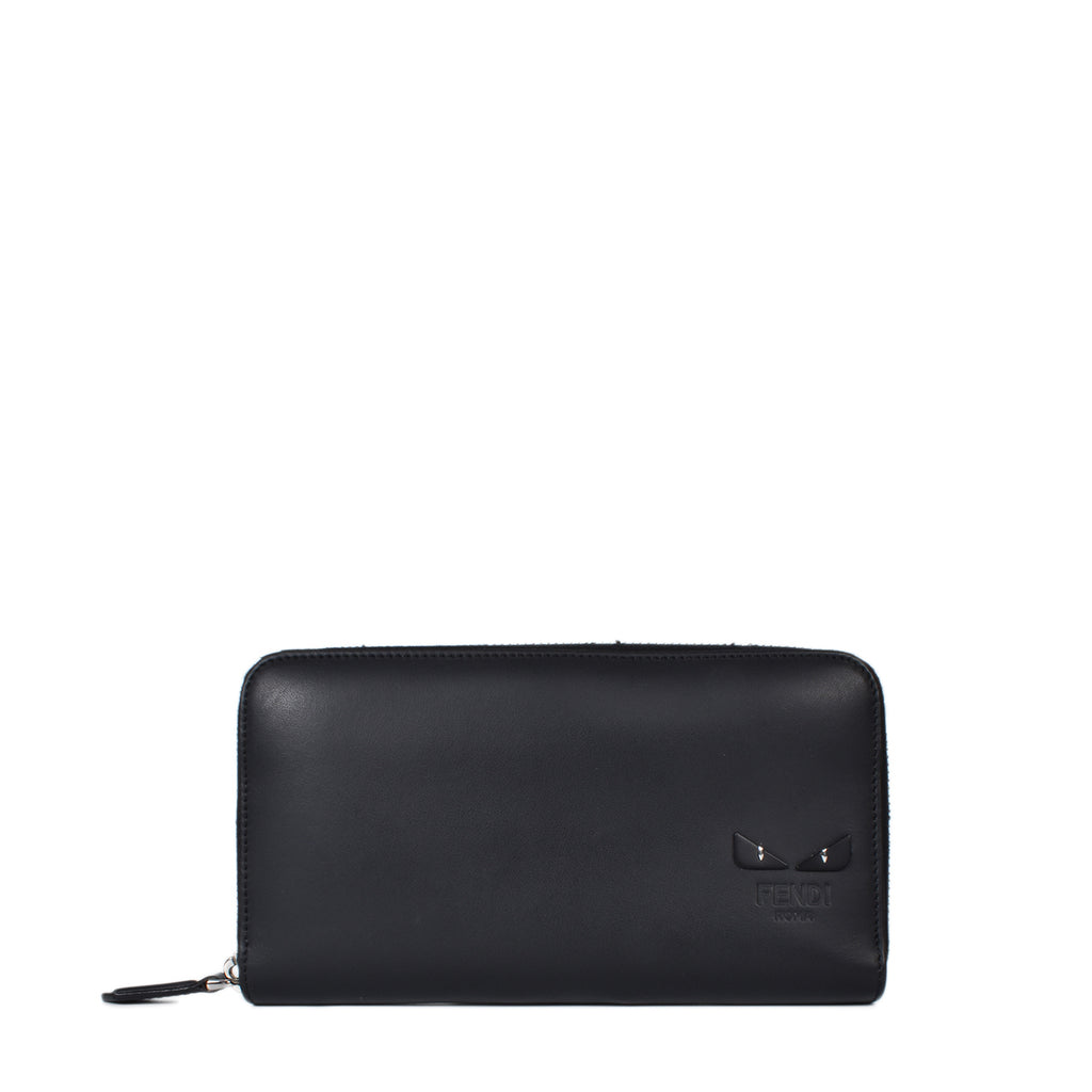 Fendi Bag Bugs Zip-around Wallet in Black