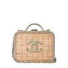 Chanel CC Filigree Rattan Metallic Calfskin Vanity Case