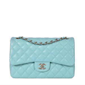 Chanel Tiffany Quilted Caviar Leather Classic Jumbo Double Flap Bag GHW