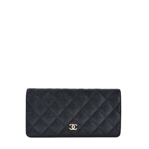 Chanel A31509 Classic Bifold Black Caviar Wallet GHW 21734584 - Glampot