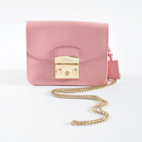 Furla Metropolis Mini Crossbody in Pink