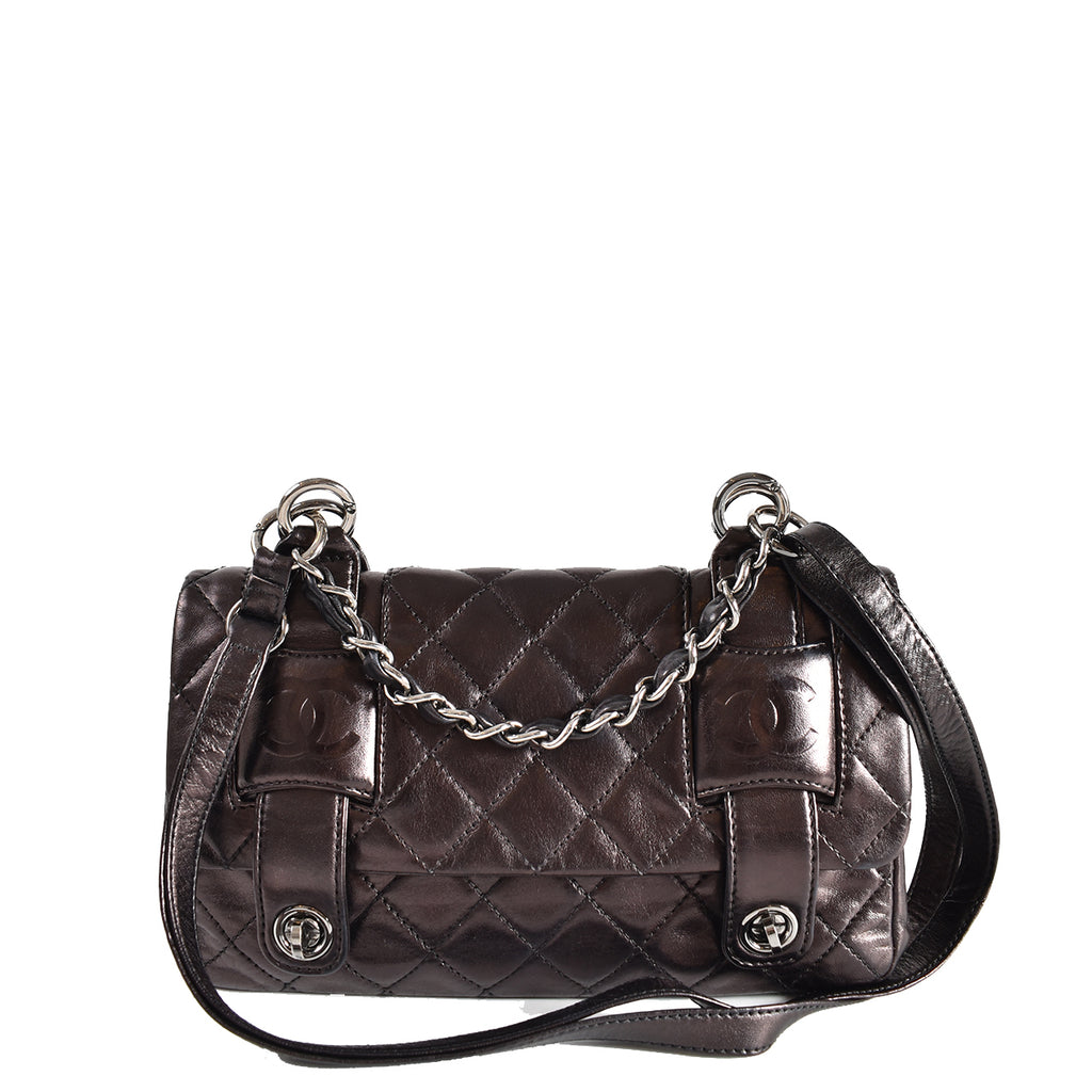 Chanel Satchel Crossbody in Purple Lambskin