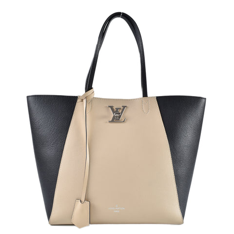Louis Vuitton M42289 LockMe Cabas in Noir / Vanille FL2166