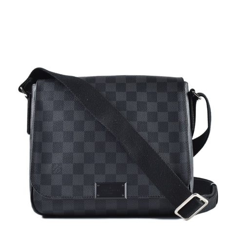 63800ee0f325 Louis Vuitton Damier Graphite Canvas District PM Bag FL4175