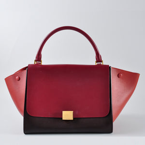 Céline Medium Trapeze in Blood Red W-A1-017S W-MM-018S - Glampot
