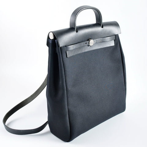Hermès Vintage Black Herbag 2 In 1 Backpack