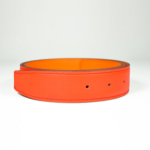 Hermès 32mm Belt Strap Orange/Mango Epsom/Swift - Size 90