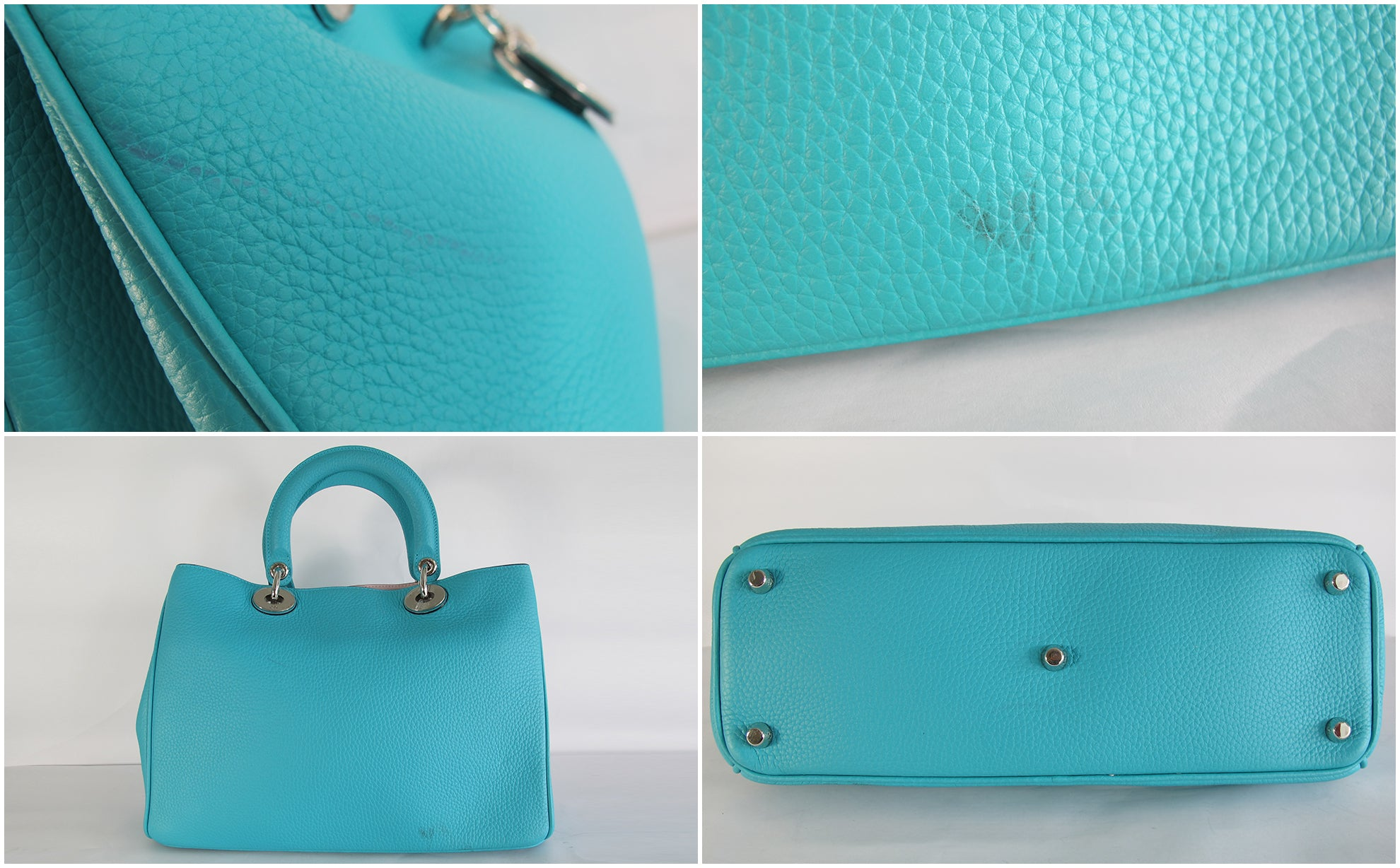 Dior Diorissimo Medium in Turquoise  (Pink Interior)