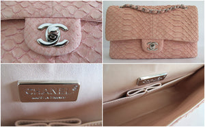 Chanel Medium Flap in Soft Python - Glampot