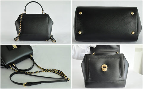 Carrie Sling Bag in Black - Glampot