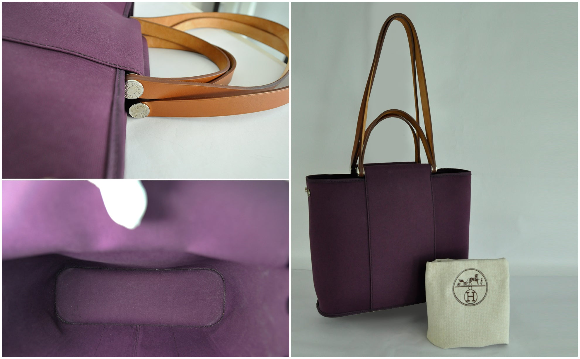Cabag Tote 32 Purple Canvas