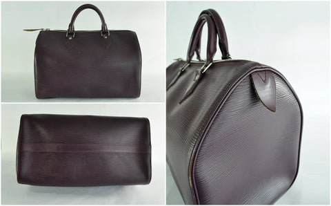 Louis Vuitton Speedy 35 in Plum Epi Leather