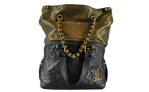 cd19252c836b Previous. Louis Vuitton Limited Edition Black Monogram Double Jeu Neo Alma  Bag