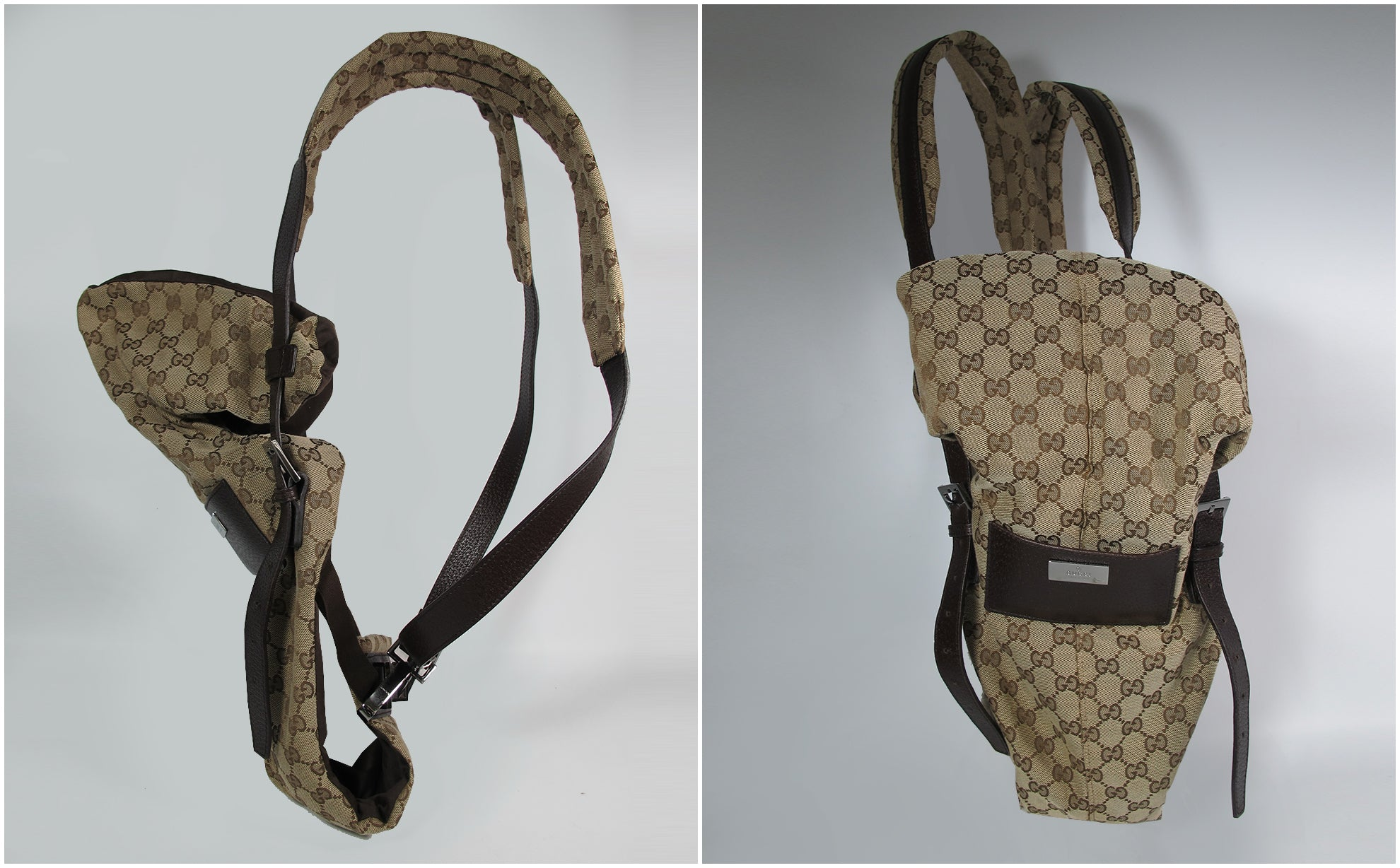 Gucci Monogram Baby Carrier in Brown