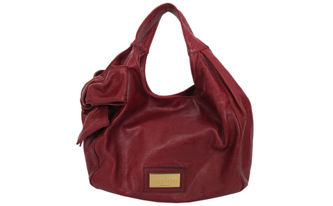 822eb8fcb321a Valentino Red Leather Bow Bag