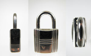 Hermes Lock + 2 Keys Set in Palladium #102