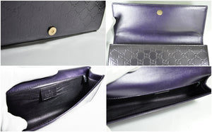 Gucci Purple Broadway Microssima Patent Leather Evening Clutch