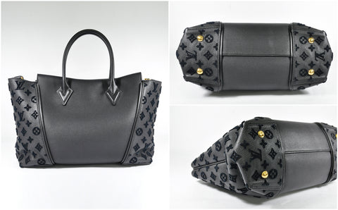 Black Orfevre and Veau Cachemire Calfskin Leather PM Bag - Glampot