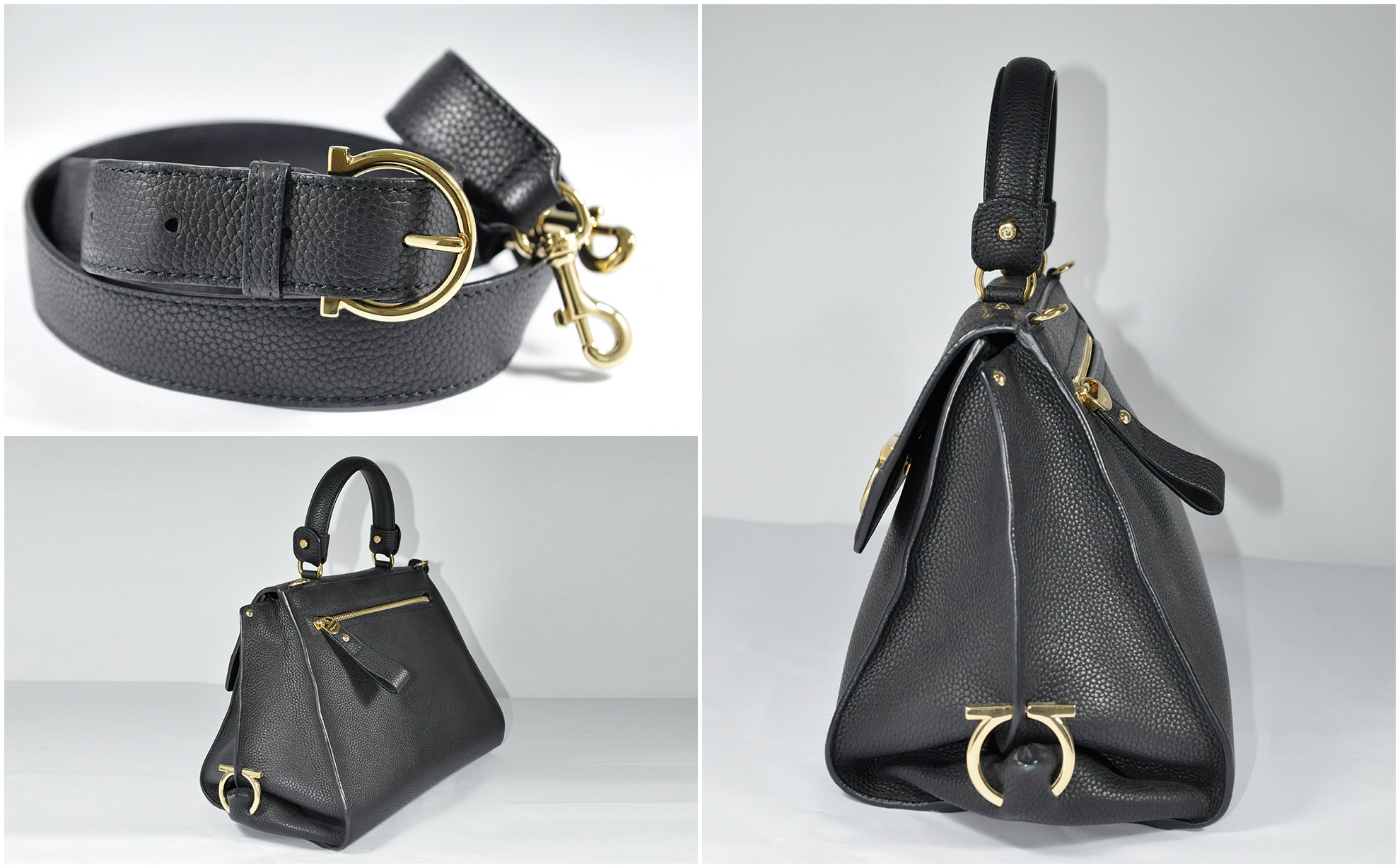 Sofia Medium Bag in Black Calfskin GHW