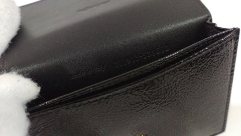 YSL Patent Black Card Holder. Condition