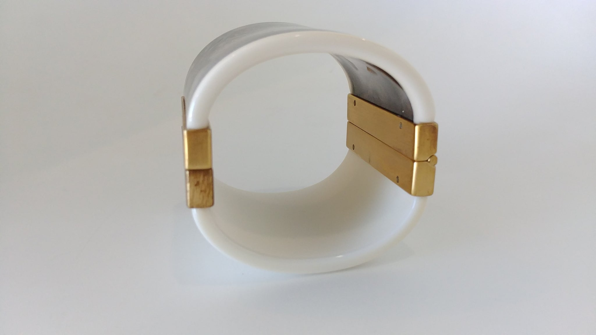 Fendi Plixiglass Bracelet with Gold Hardware