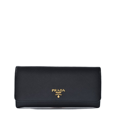 086171ba583d7f Previous. Prada 1MH132 Saffiano Metal Nero Wallet