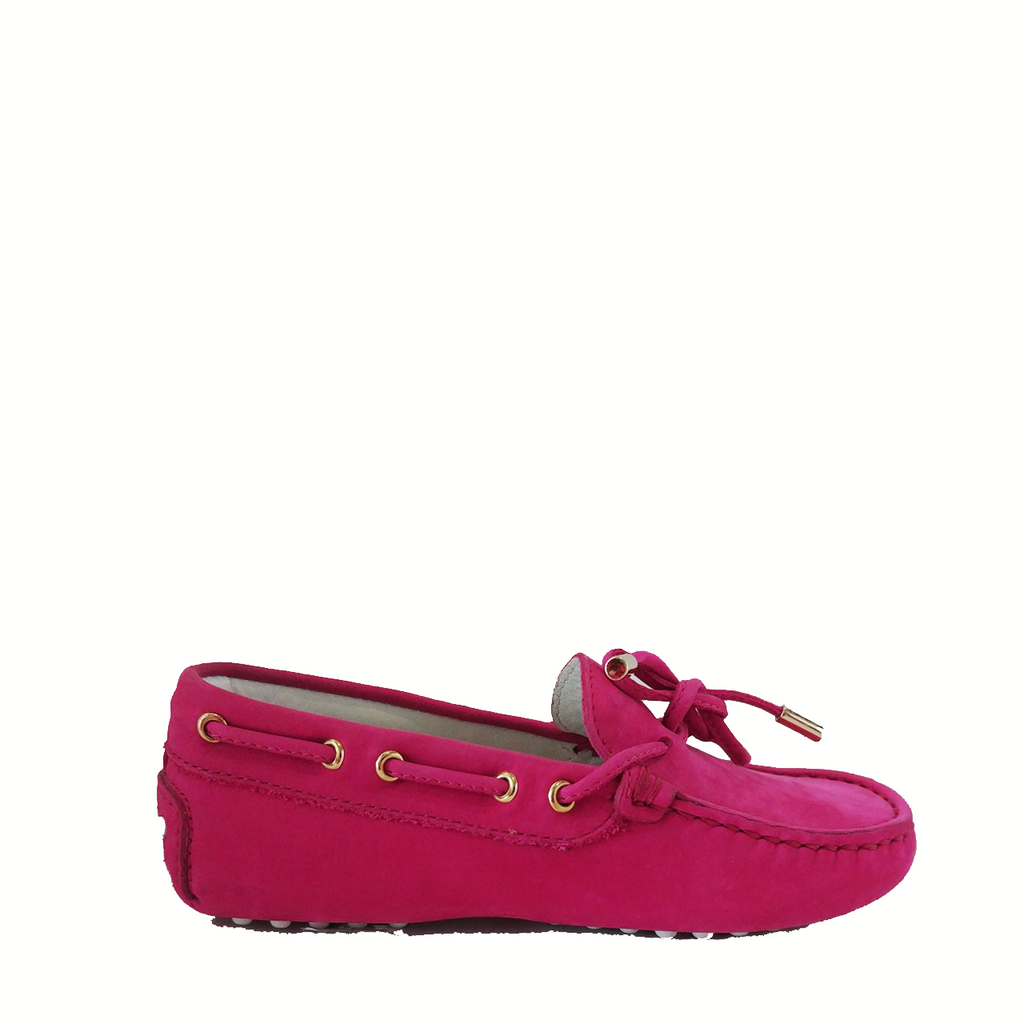 Tod's Junior Gommino Driving Shoes in Pink Suede - Size 29