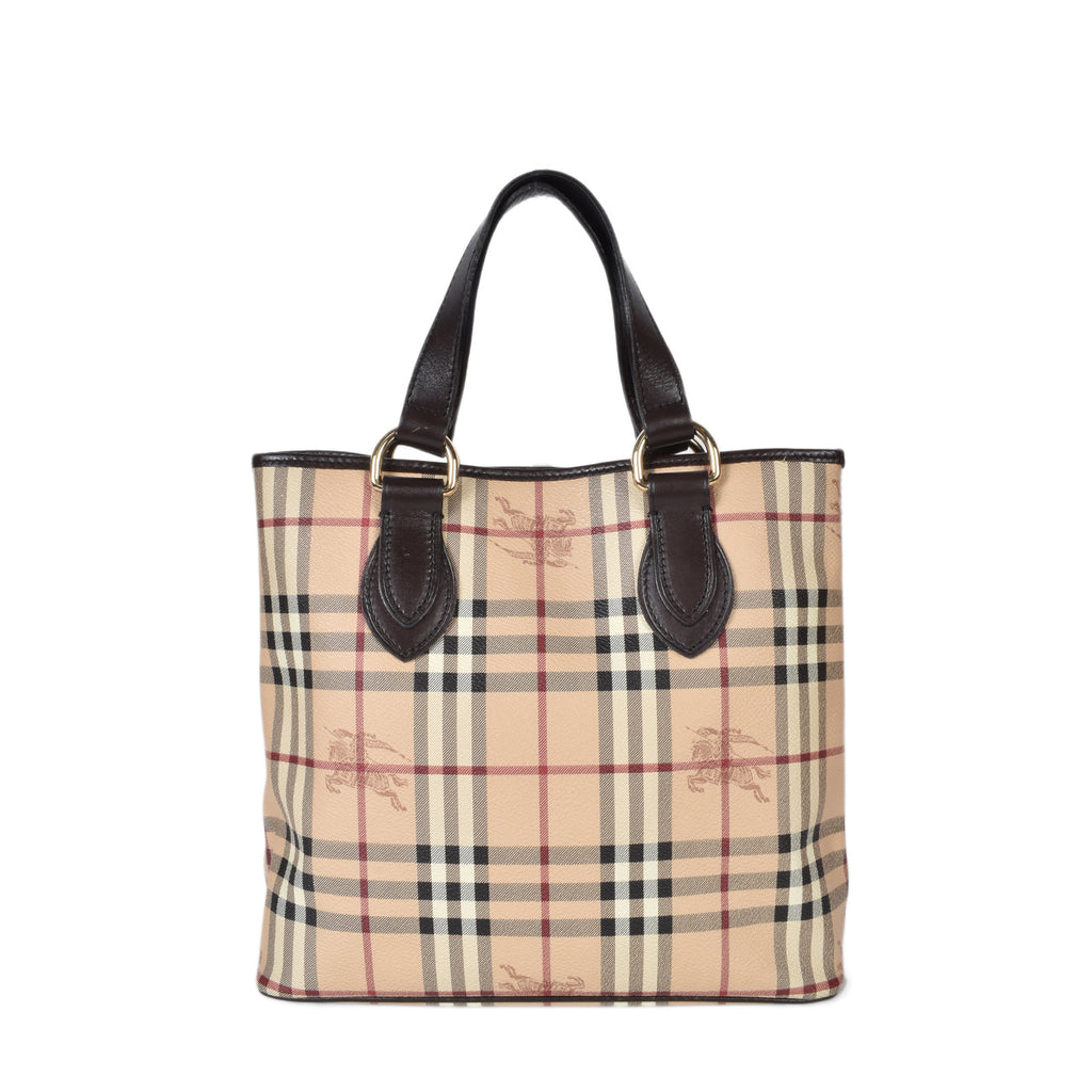 Burberry Haymarket Check Coated Canvas Onslow Tote Bag